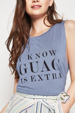 BCBGeneration Guac Muscle Tank Top - Alternate List Image