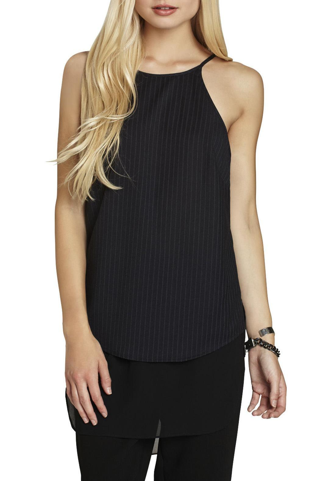 BCBGeneration High-Neck Slip Top - Front Cropped Image