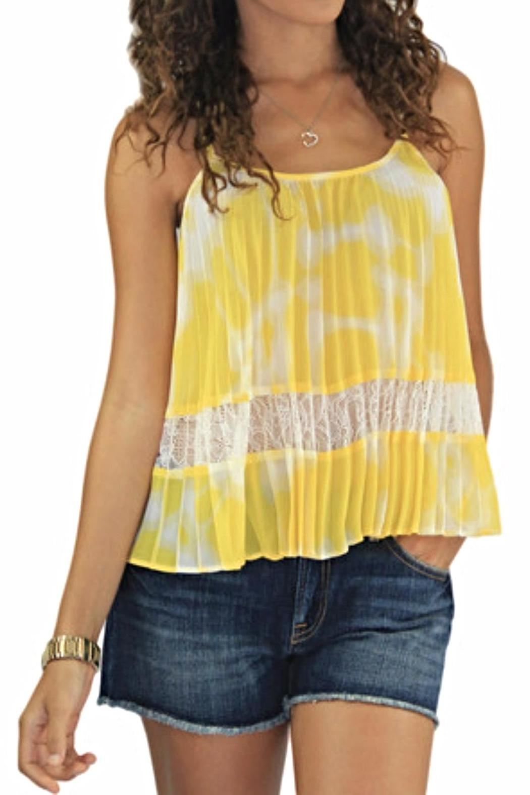 BCBGeneration Lace Pleated Tank - Main Image
