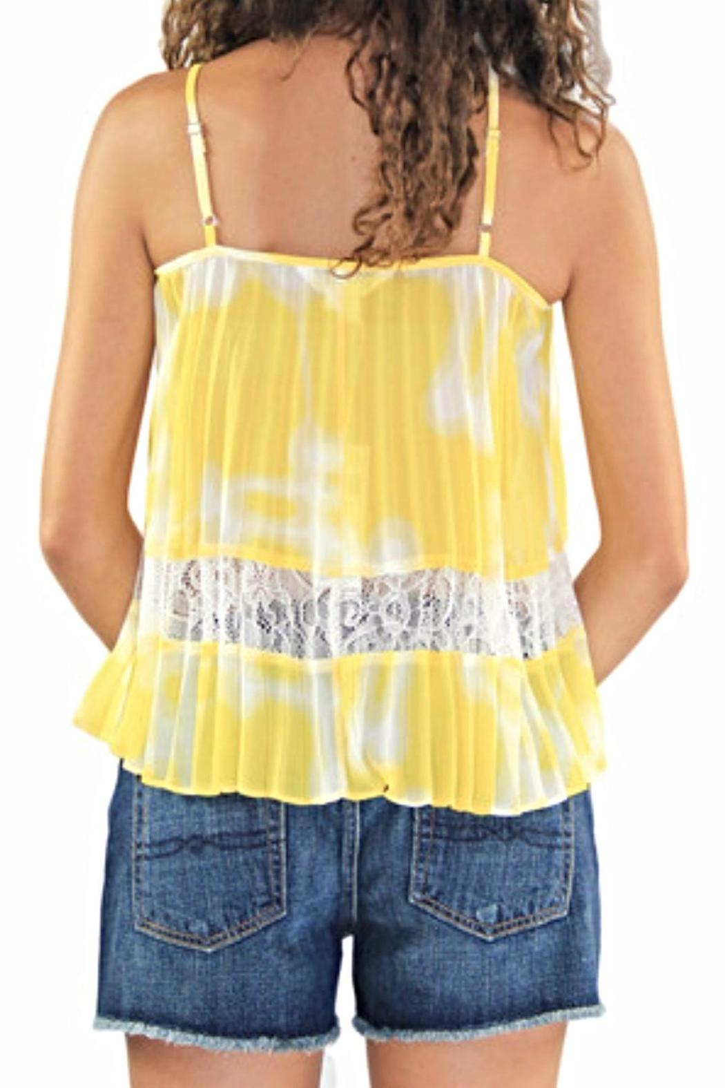 BCBGeneration Lace Pleated Tank - Side Cropped Image