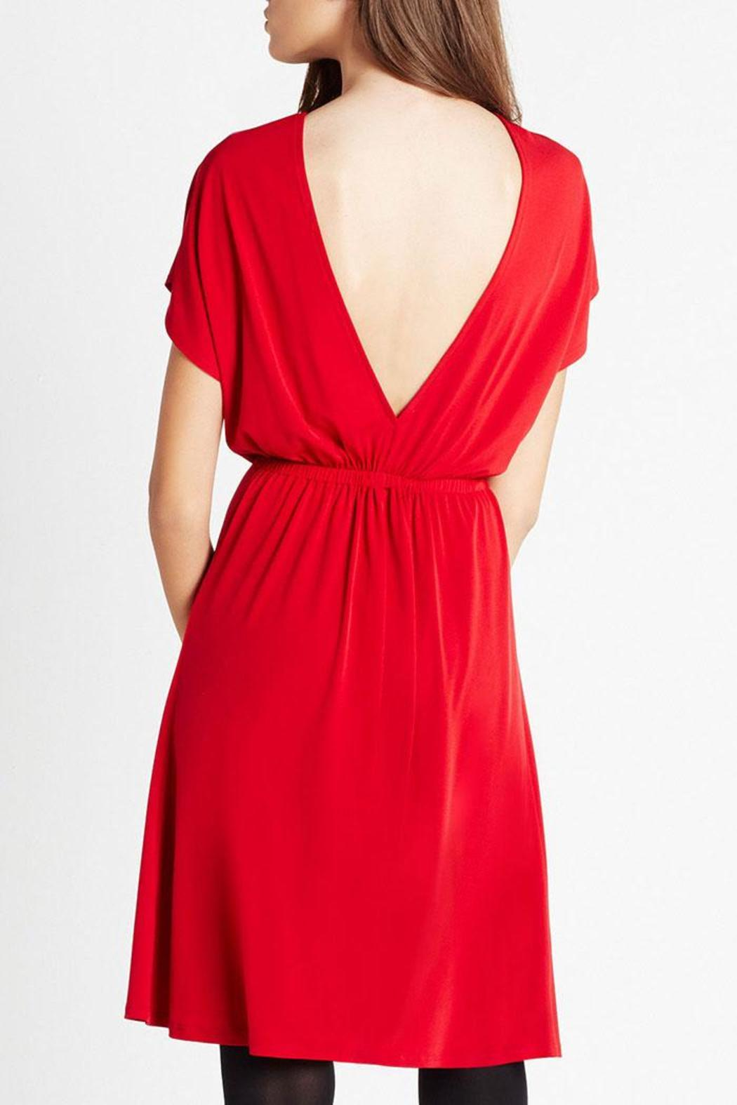 BCBGeneration Little Red Dress - Side Cropped Image
