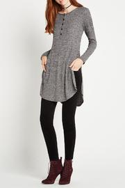 BCBGeneration Long Henley Top - Product Mini Image