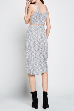 BCBGeneration Melange Knit Wrap Skirt - Alternate List Image