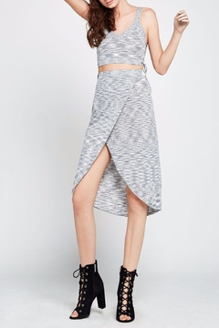 BCBGeneration Melange Knit Wrap Skirt - Product List Image