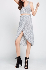 BCBGeneration Melange Knit Wrap Skirt - Product Mini Image