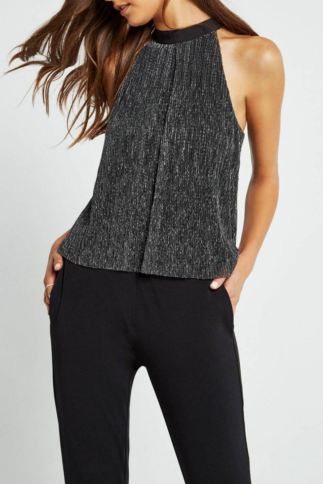 BCBGeneration Metallic Trapeze Top - Front Cropped Image