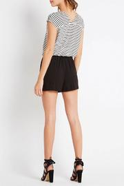 Shoptiques Product: Mixed Fabric Romper - Side cropped