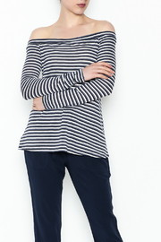 BCBGeneration Navy Stripe Knit Top - Product Mini Image