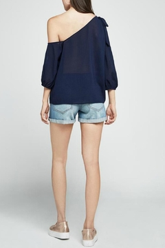 BCBGeneration Navy One Shoulder Top - Alternate List Image