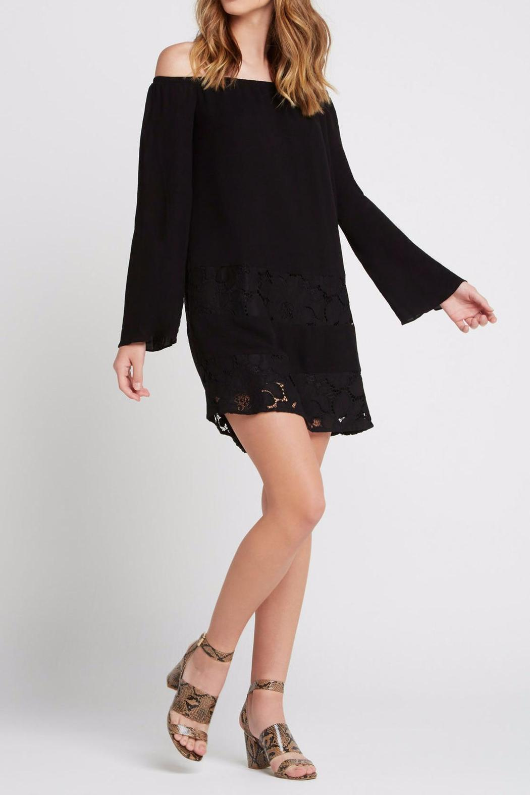 BCBGeneration Off-The-Shoulder Peasant Dress - Front Cropped Image