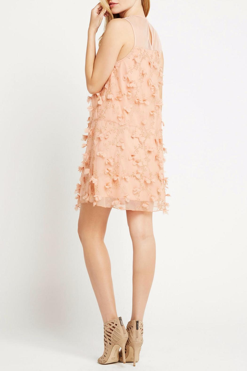 BCBGeneration Peach Combo Dress - Side Cropped Image