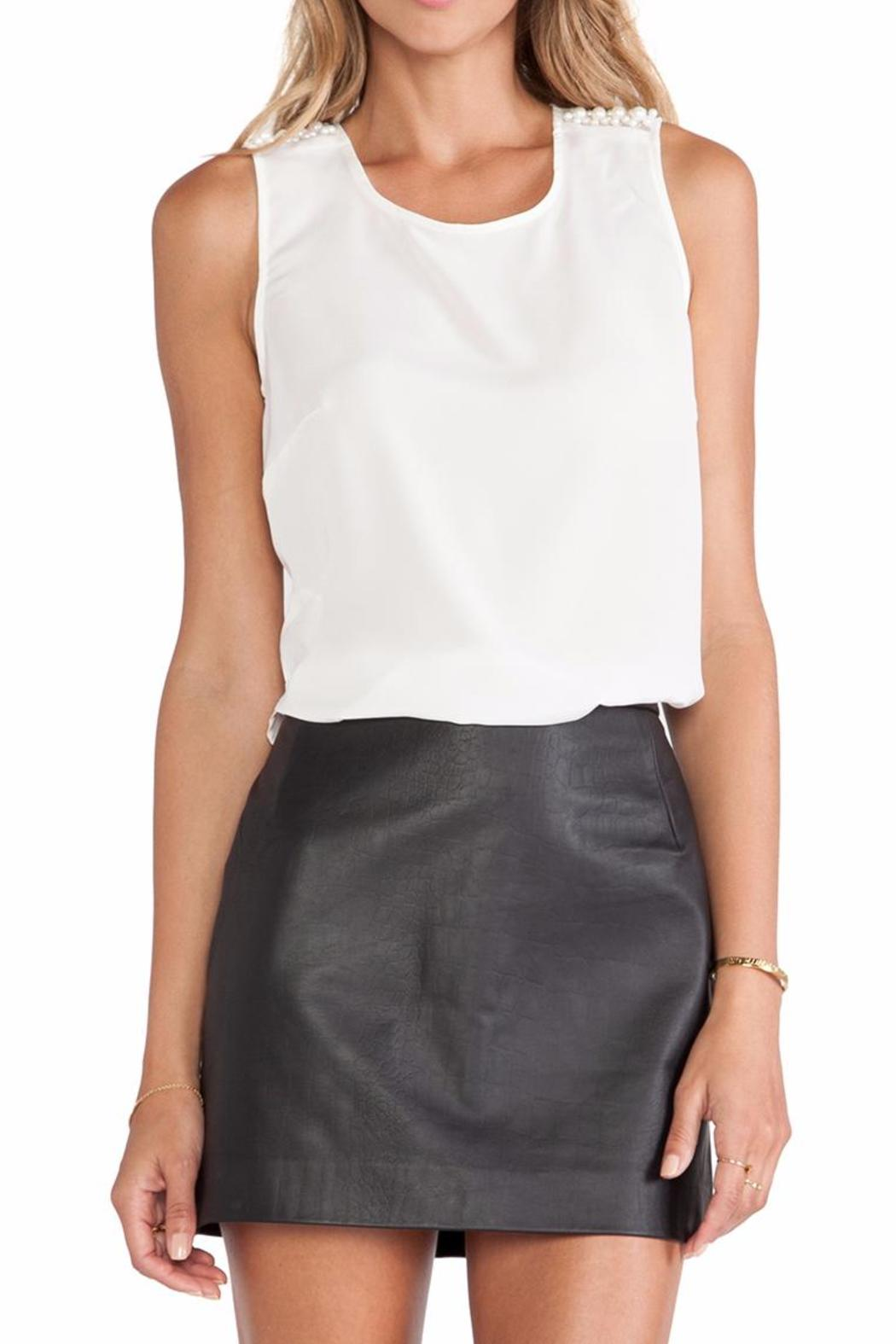 BCBGeneration Pearl Open-Back Top - Front Cropped Image