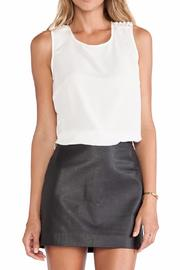 BCBGeneration Pearl Open-Back Top - Front cropped