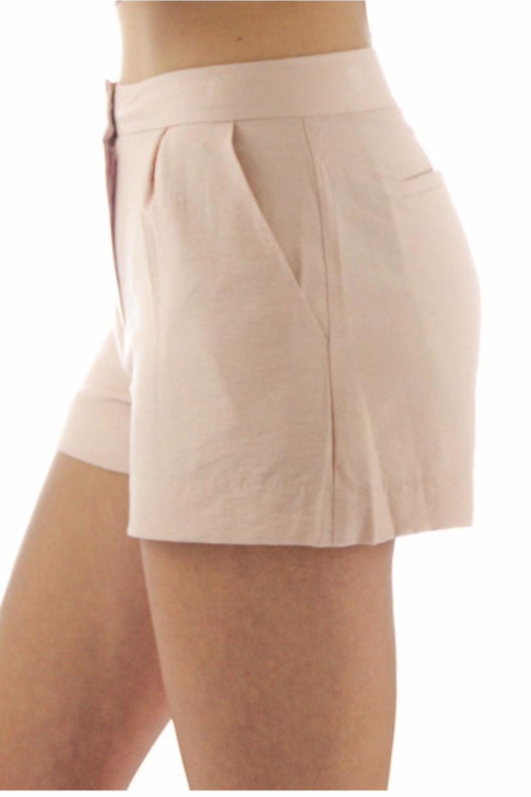 BCBGeneration Pink Tailored Shorts - Side Cropped Image