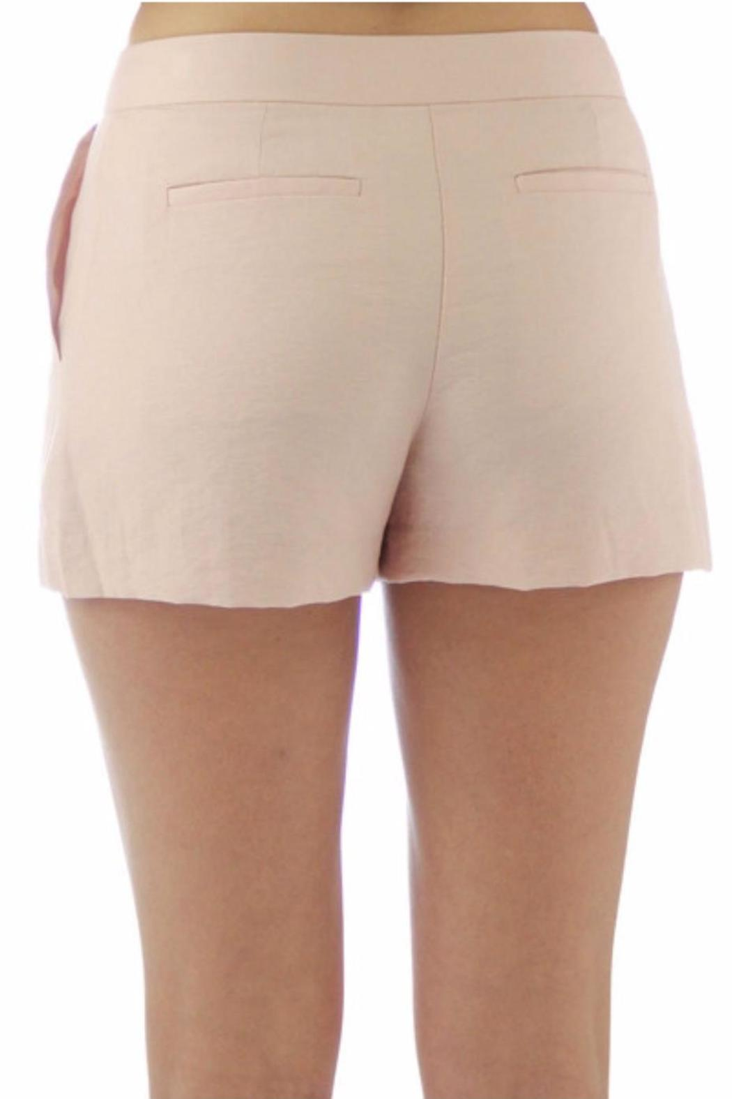 BCBGeneration Pink Tailored Shorts - Front Full Image