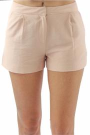 BCBGeneration Pink Tailored Shorts - Front cropped