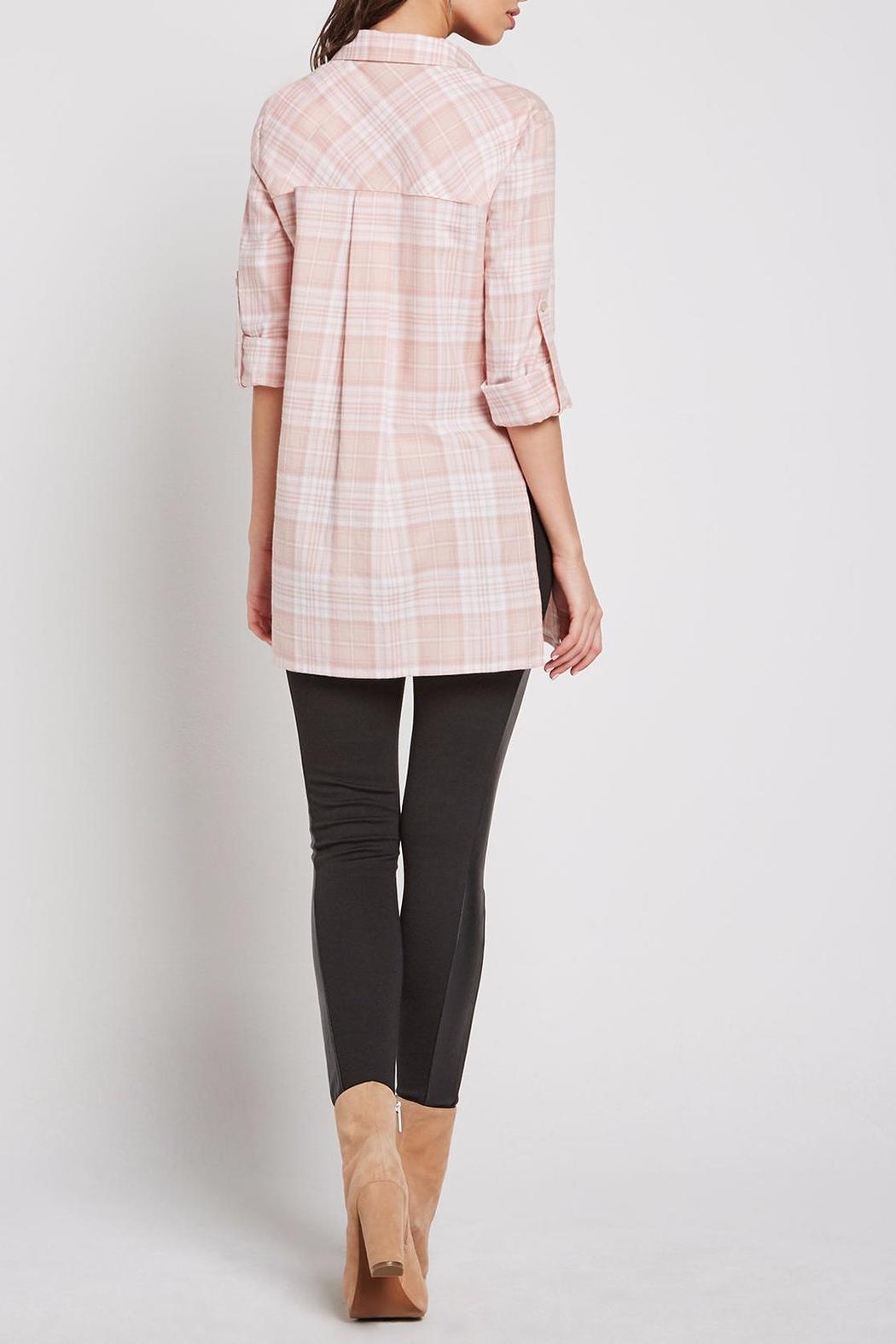 BCBGeneration Plaid Button Up Tunic - Front Full Image