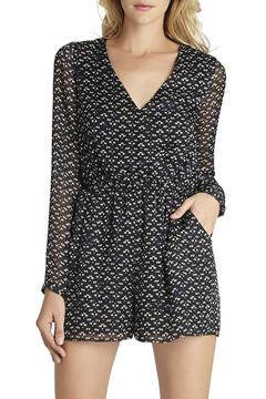 BCBGeneration Printed Tie-Back Romper - Alternate List Image
