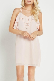 BCBGeneration Ruffle Pink Dress - Product Mini Image