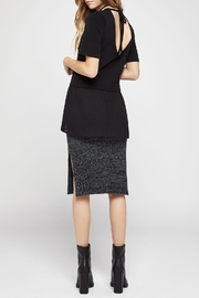 BCBGeneration Short-Sleeve Mixed-Media Top - Side cropped