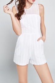 BCBGeneration Sleeveless Chiffon Romper - Product Mini Image