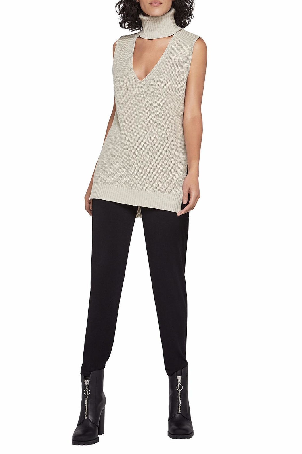 BCBGeneration Sleeveless Turtleneck Tunic - Main Image
