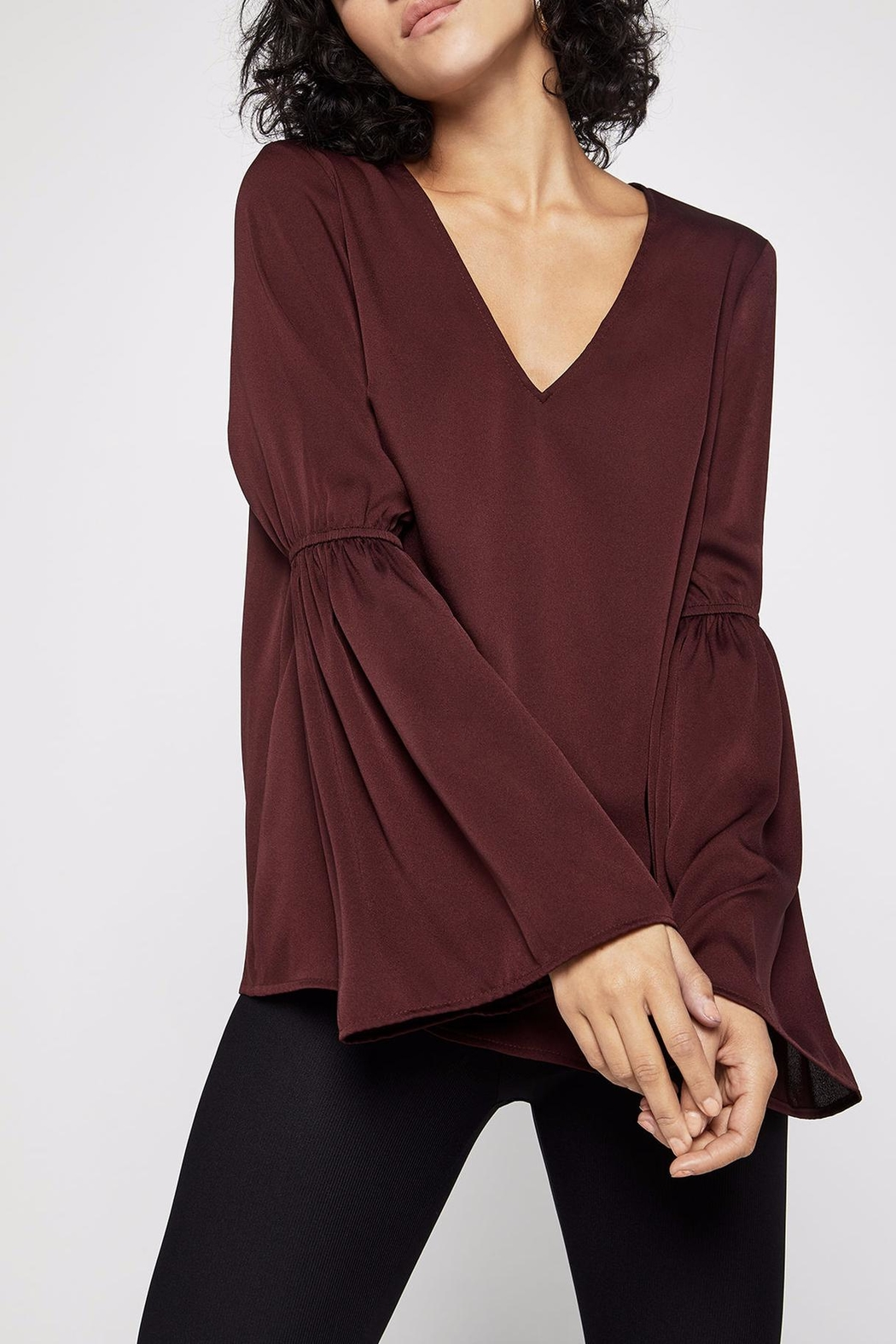 BCBGeneration Smocked Bell-Sleeve Top - Main Image