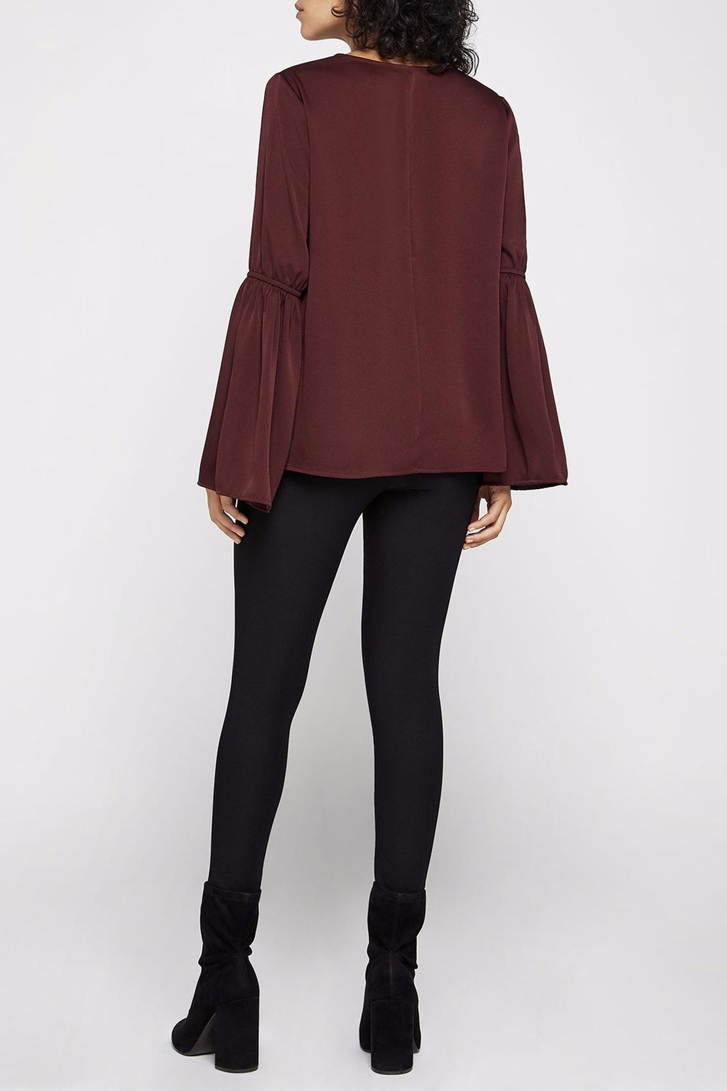 BCBGeneration Smocked Bell-Sleeve Top - Front Full Image