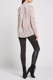 BCBGeneration Snake Print Button Up - Front full body
