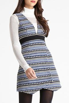 BCBGeneration Striped Jacquard Dress - Alternate List Image
