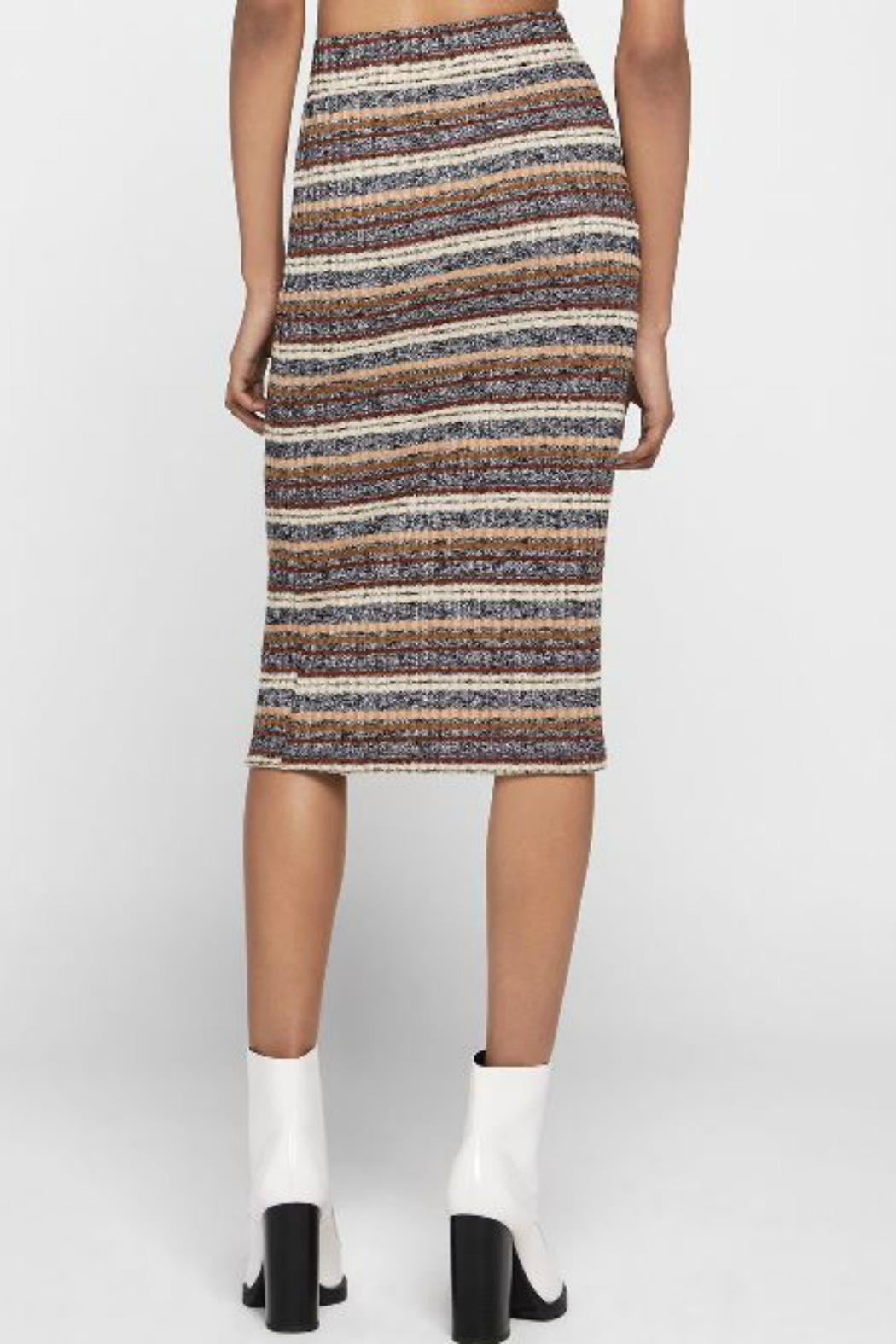 BCBGeneration Striped Pencil Skirt - Front Full Image