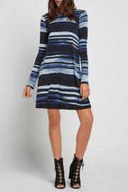 BCBGeneration Striped Turtleneck A Line - Product Mini Image