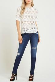 BCBGeneration White Lace Top - Front cropped