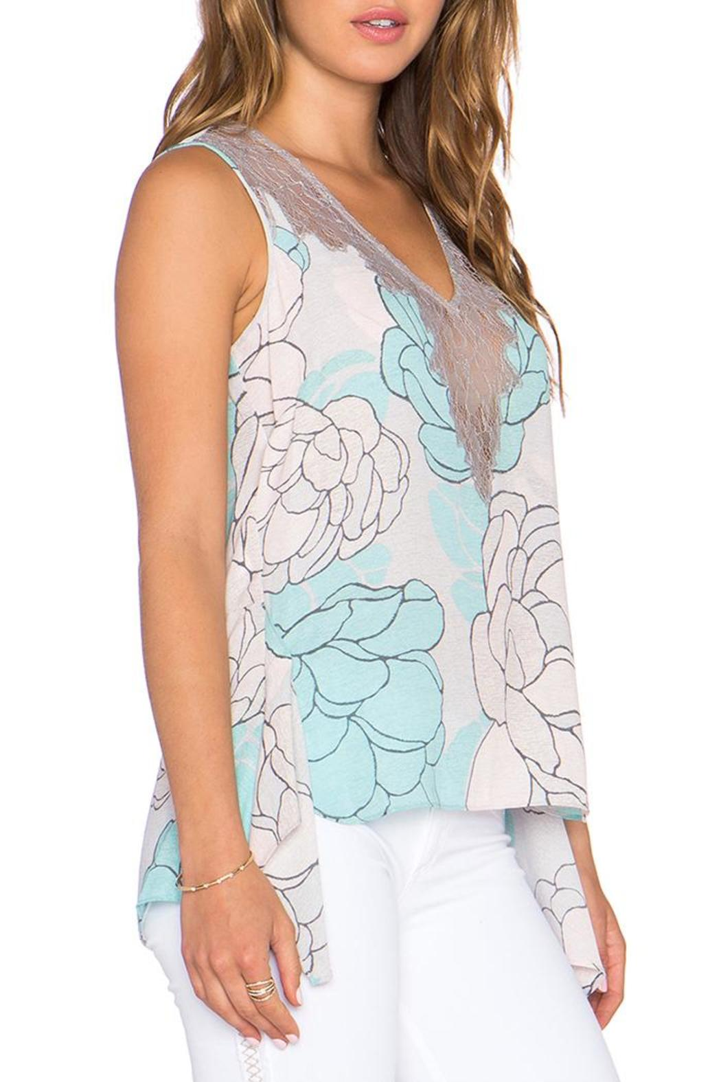 Lacey Print Top