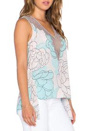 BCBGMAXAZRIA Lacey Print Top - Front full body