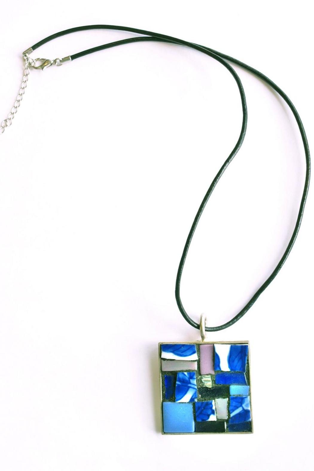 Betsy Rodman Mosaic Glass Pendant - Front Cropped Image