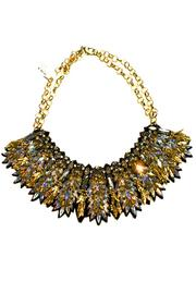 Deepa Gurnani Intense Crystal Necklace - Front full body