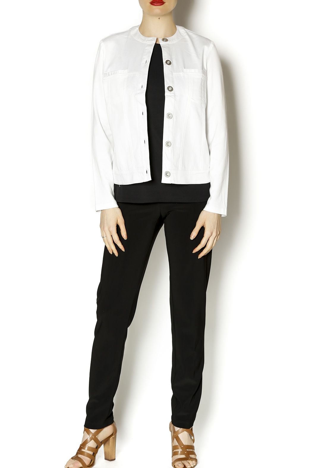 Robert Kitchen White Denim Style Jacket From New York By Scandia House Shoptiques