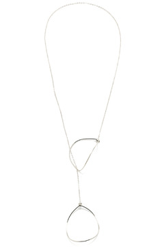 Shoptiques Product: Open Leaf Silver Lariat