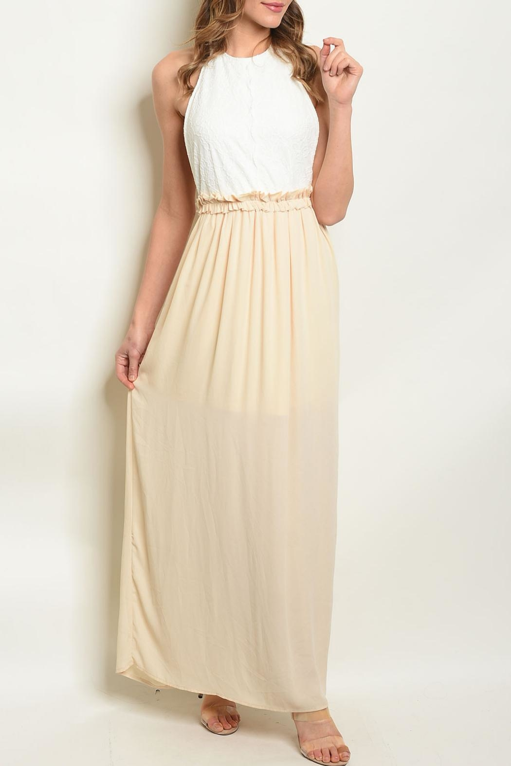 BD Collection White Cream Dress - Main Image