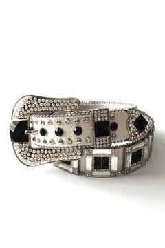 Shoptiques Product: Leather Rhinestone Belt