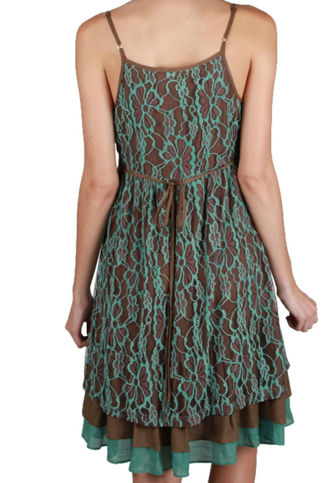 A'reve Flower Lace Dress - Front Full Image