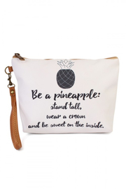 Lyn-Maree's  Be  A Pineapple Makeup Bag - Front cropped