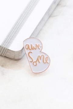 Old English Co. Be Awesome Enamel Pin - Alternate List Image