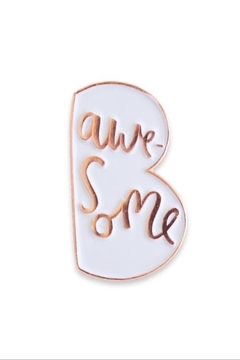 Old English Co. Be Awesome Enamel Pin - Product List Image