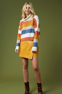MinkPink Be Bold Stripe Turtleneck Sweater - Product List Image