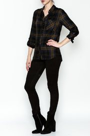 Be Cool Navy Plaid Shirt - Side cropped