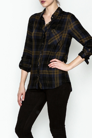 Be Cool Navy Plaid Shirt - Product Mini Image