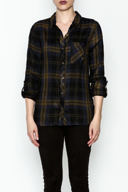 Be Cool Navy Plaid Shirt - Front full body