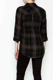 Be Cool Navy Plaid Shirt - Back cropped